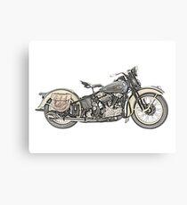 1936 Harley Davidson Motorrad Leinwanddruck