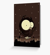 Little owl v2 Greeting Card