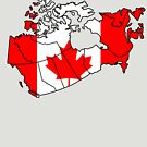 Canada Country Outline and Flag by HandDrawnTees