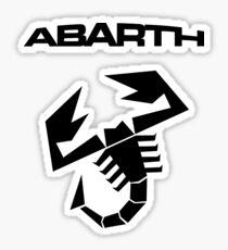 Abarth & scorpion (black) Sticker