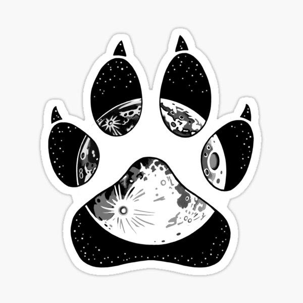 Pawprint Moon Sticker