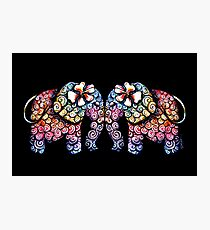 Tattoo Babies elephants Photographic Print