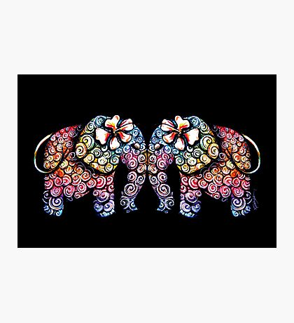 Tattoo Babies elephants Photographic Print