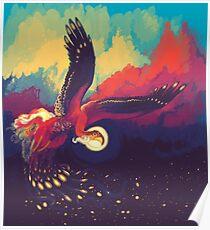 Sunset Bird Poster