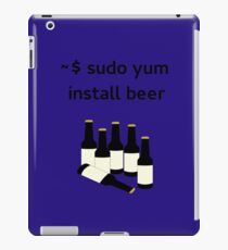 Linux sudo yum install beer iPad Case/Skin