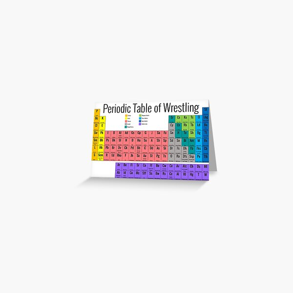 Periodic Table of Wrestling Greeting Card