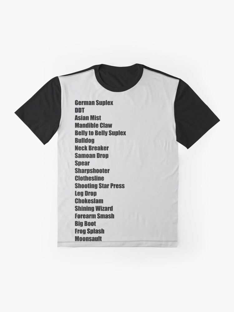 Alternate view of Wrestling Moves List Graphic T-Shirt
