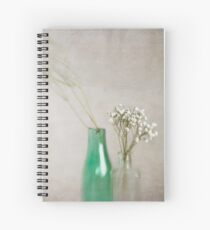 Simplicity In Green Spiral Notebook