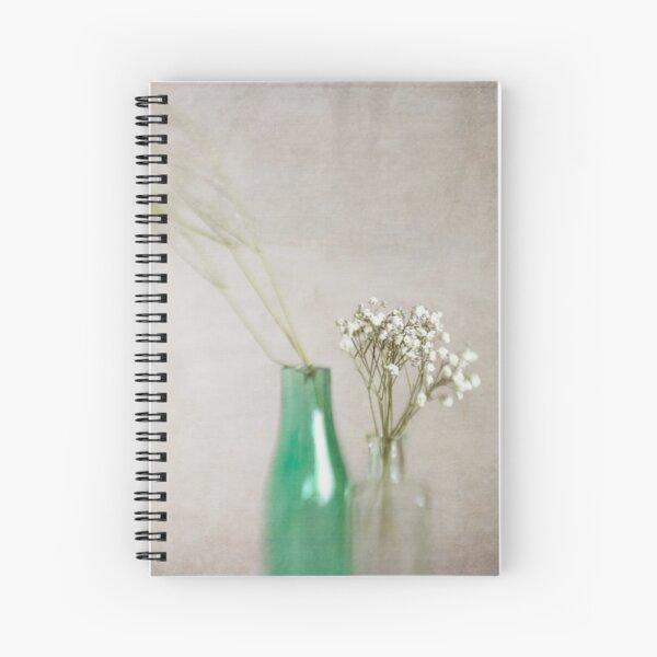 Simplicity In Green Spiral Notebook