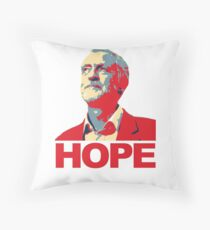 Jeremy Corbyn HOPE Throw Pillow