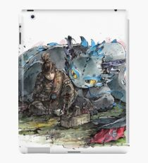 Samurai Hiccup and Toothless Tribute  iPad Case/Skin