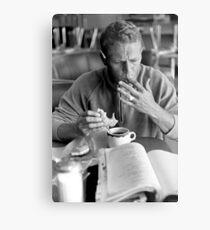 Steve McQueen eats a donut Metal Print