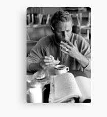 Steve McQueen eats a donut Canvas Print