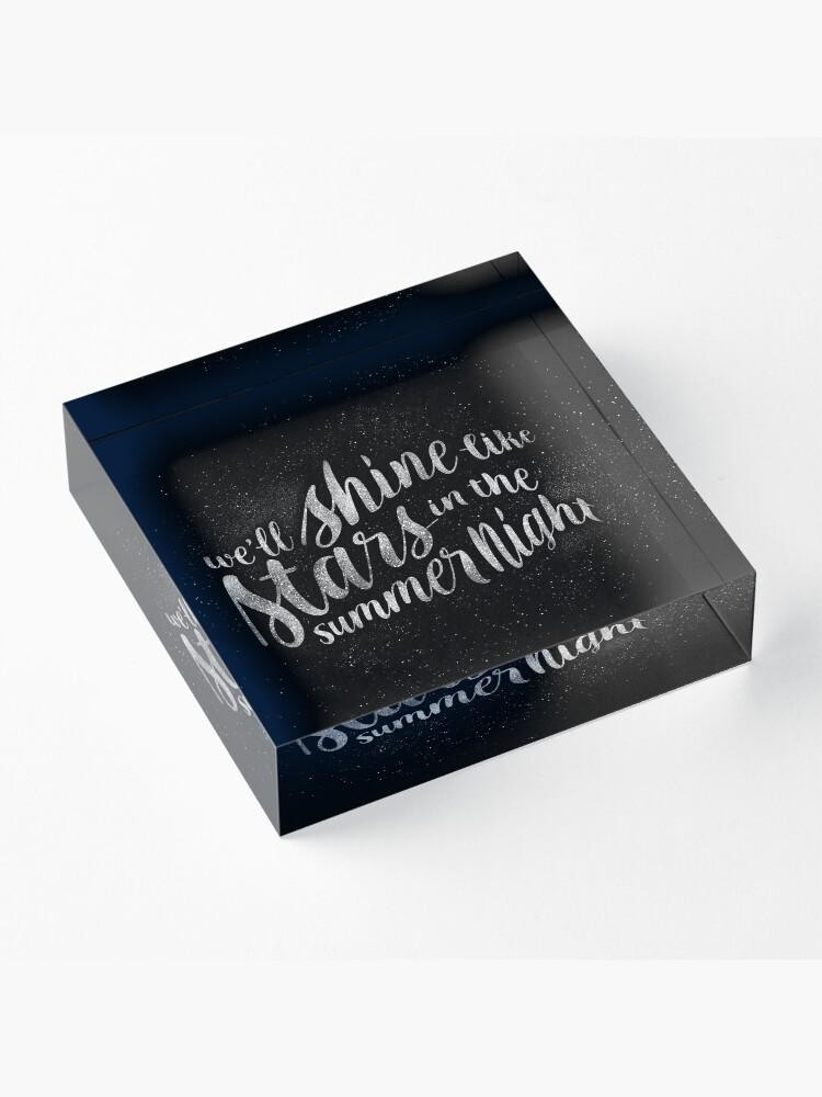 Alternate view of Shine Like Stars Acrylic Block
