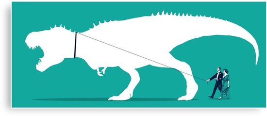 Walking the T-Rex by robCREATIVE