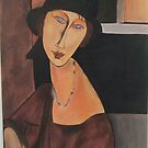 Jeanne Hebuterne with the hat by Colombe  Cambourne