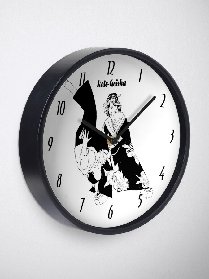 Horloge ''Kote Geisha': autre vue