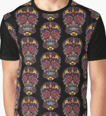 Day of the Dead Sugar Skull Dark Graphic T-Shirt