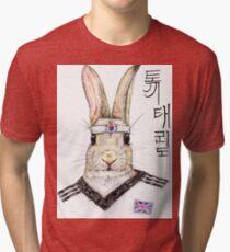 Taekwondo Bunny Tri-blend T-Shirt