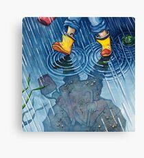 """""""Ein Spaziergang im Regen"""" Leinwanddruck"""