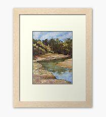 Lake Cathie - plein air Framed Print