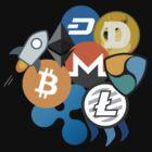 Bitcoin, Ripple, Ethereum, Litecoin, NEM, Dash, Monero, Stellar Lumens, Steem, Cryptocurrency,  by JackCurtis1991