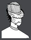 « Sensei au chapeau (Aikidrôle) » par E-Maniak