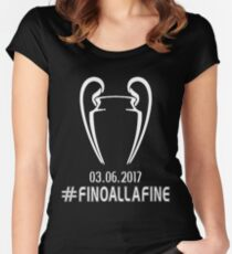 Juventus Cardiff fino alla fine Women's Fitted Scoop T-Shirt