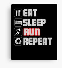 Eat Sleep Run Repeat Canvas Print