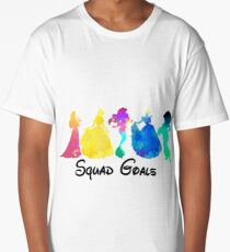 Princess Squad Goals Inspired Silhouette Long T-Shirt