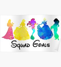Princess Squad Goals Inspired Silhouette Poster