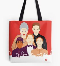 Many People In This Hotel (Faces & Movies) Tote Bag