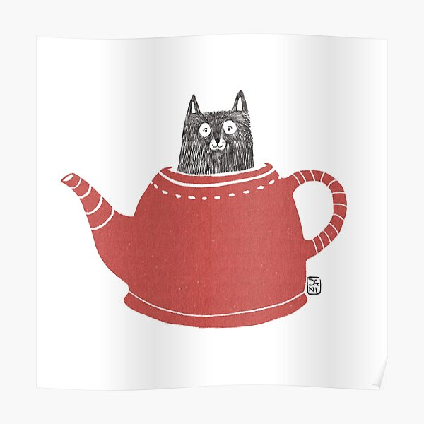 Cat in a Pot Poster