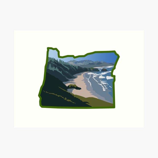 Oregon State Coastline  Art Print