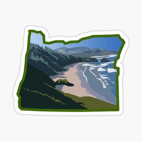 Oregon State Coastline  Sticker