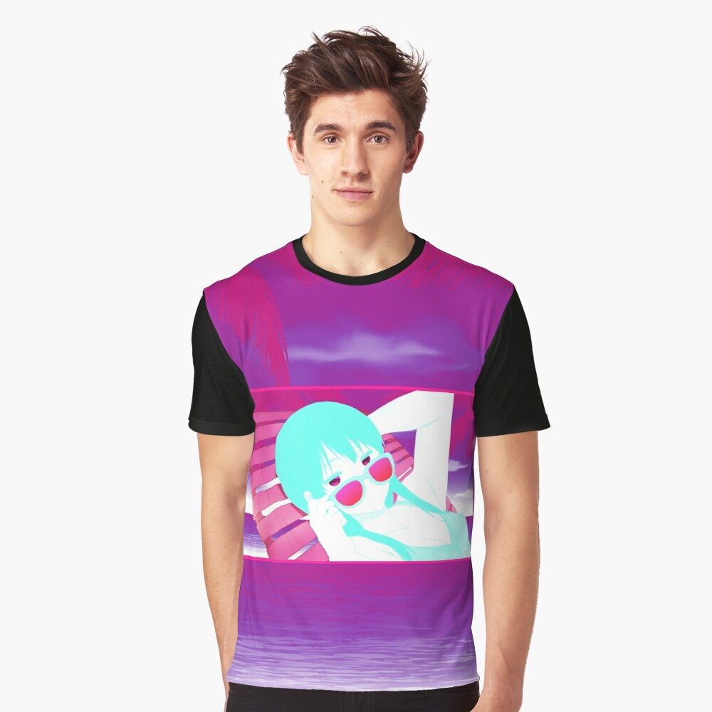 NEON SUMMER - Anime Girl Shirt (Beyond the Boundary) Graphic T-Shirt