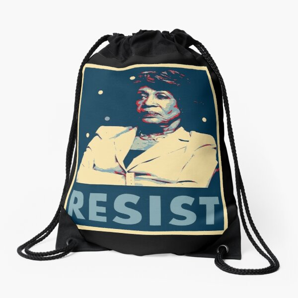 Auntie Maxine RESIST Drawstring Bag