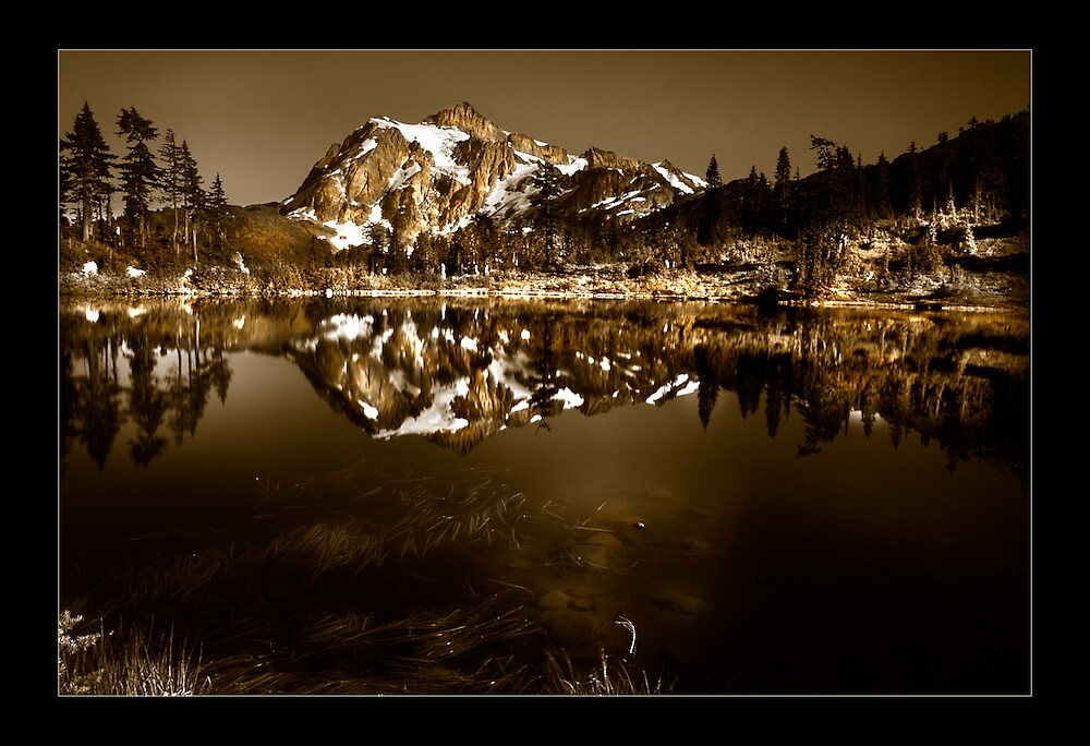 North Cascades in Quadtones by psychedelicmind
