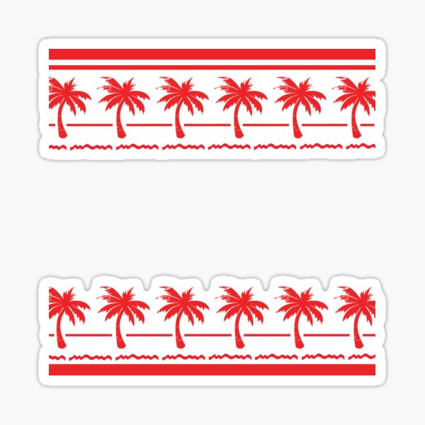 West Coast California Burger Drive In n Out Sticker