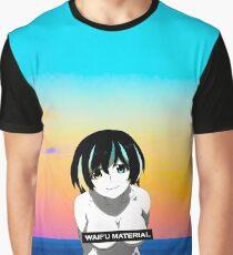 Waifu Material - Anime Girl Shirt (Hanekawa Tsubasa) [Monogatari] Graphic T-Shirt