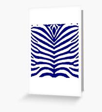Marineblaue und weiße Zebra-Tiersafari-Streifen Grußkarte
