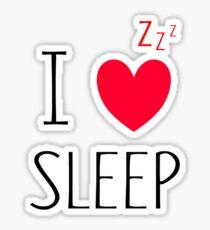 I Love Sleep Sticker