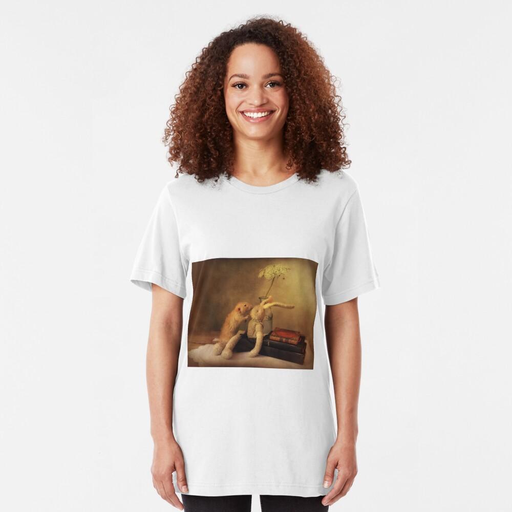 Poppy in still life Slim Fit T-Shirt
