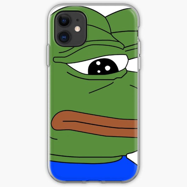 Sad Pepe the Frog iPhone Soft Case