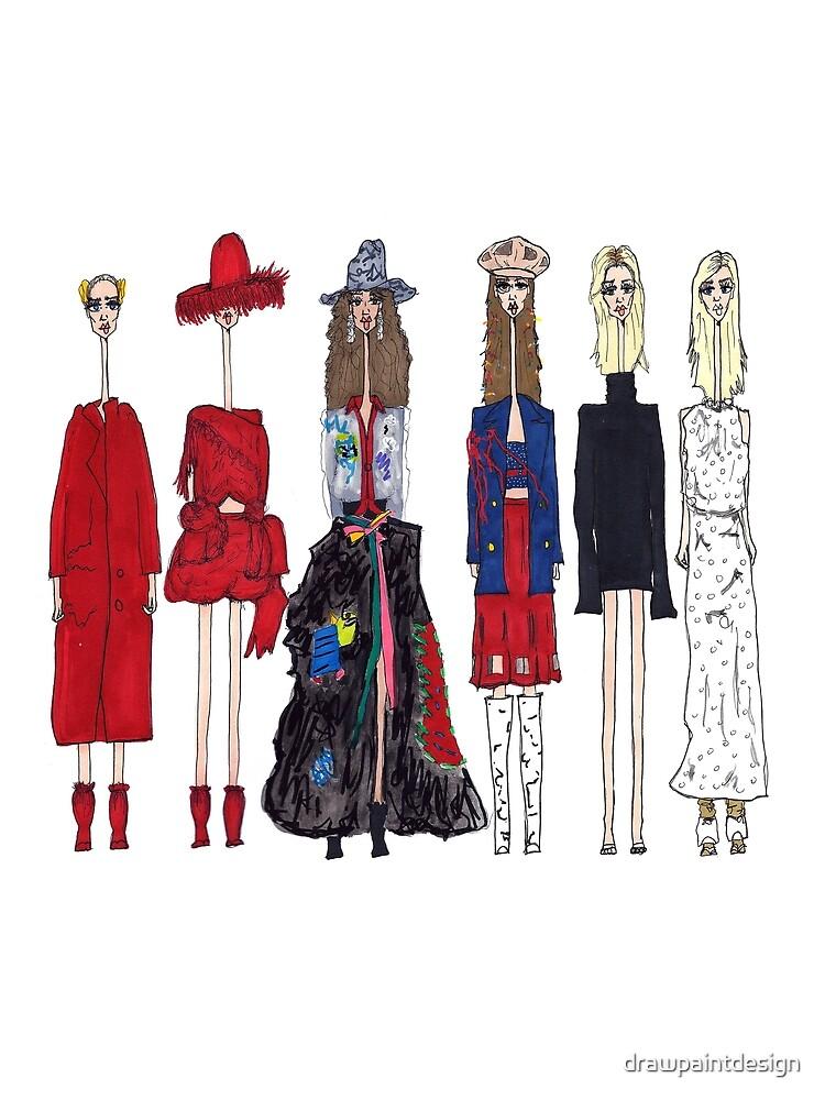 fashionista by drawpaintdesign