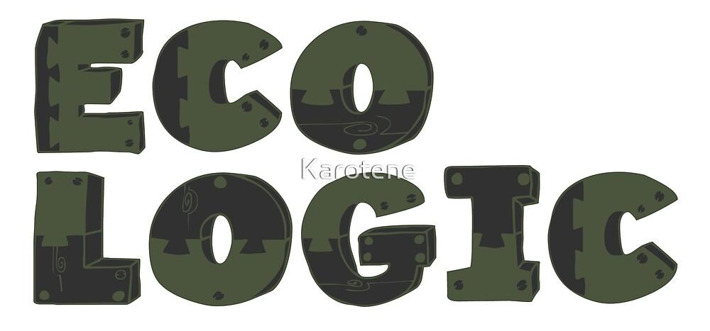 Typography Word Eco Logic  by Karotene