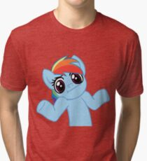 Rainbow Dash Shrug Tri-blend T-Shirt