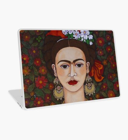 Frida Kahlo with butterflies Laptop Skin