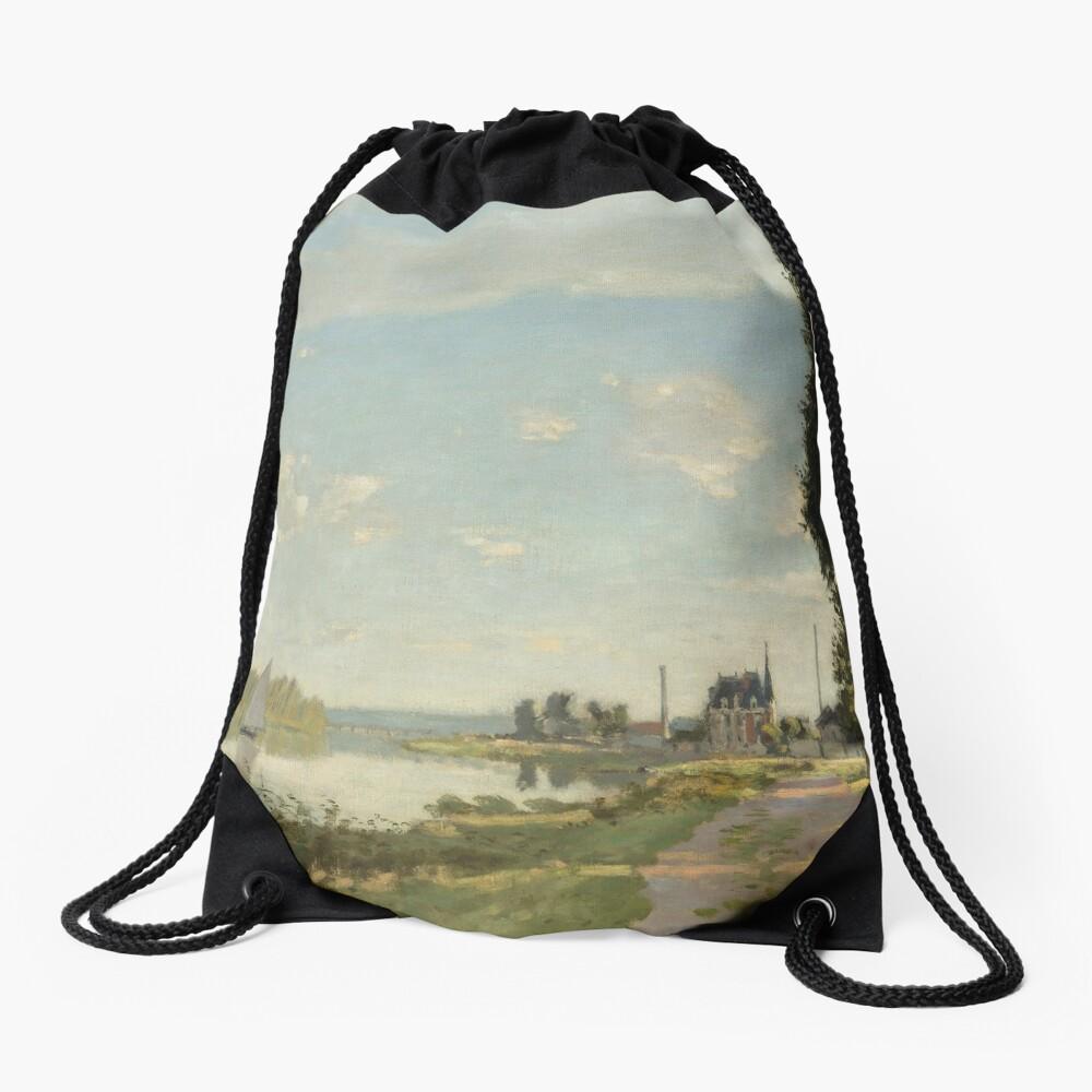 Argenteuil by Claude Monet Drawstring Bag
