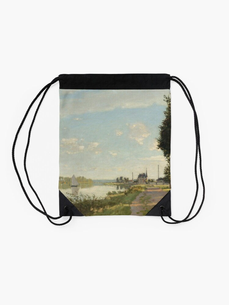 Alternate view of Argenteuil by Claude Monet Drawstring Bag